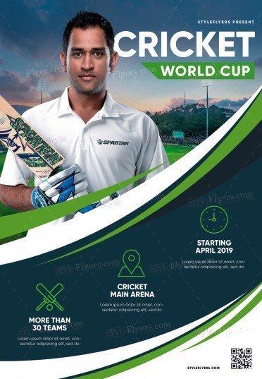 Cricket World Cup PSD Flyer Template
