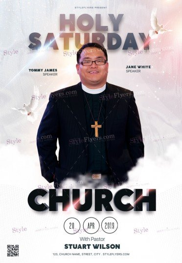 Holy Saturday Church PSD Flyer Template
