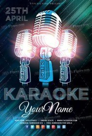 Karaoke Flyer PSD Template