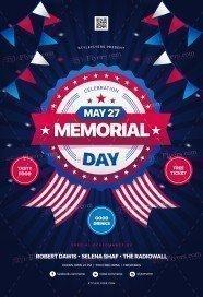 Memorial Day PSD Flyer Template