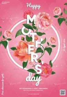 Mothers Day PSD Flyer Temlate