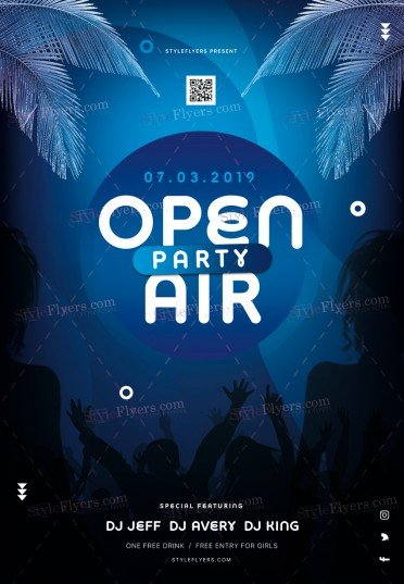 Open Air Party PSD Flyer Template