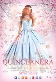 Quinceanera PSD Flyer Template