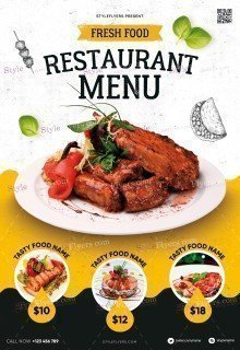 Restaurant Menu PSD Flyer Template