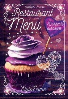Restaurant Menu PSD Flyer Template
