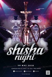 Shisha Night PSD Flyer Template