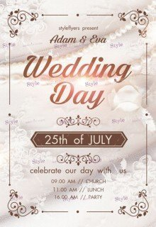 Weddind Day PSD Flyer Template