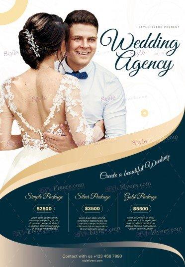 Wedding Agency PSD Flyer Template