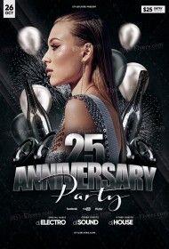 Anniversary PSD Flyer Template