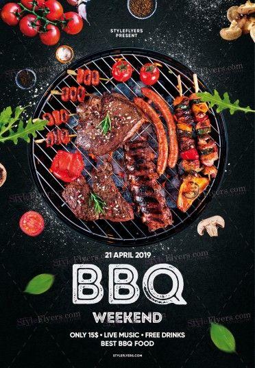 BBQ PSD Flyer Template