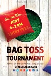 Bag Toss Tournament PSD Flyer Template