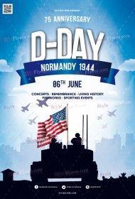 D-Day PSD Flyer Template
