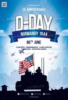 D-Day PSD Flyer Template