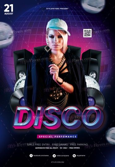 Disco PSD Flyer Template