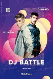Dj Battle PSD Flyer Template