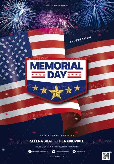 Memorial Day Flyer Template