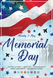Memorial Day PSD Flyer Template
