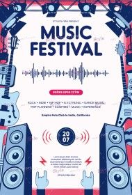 Music Festival PSD Flyer Template