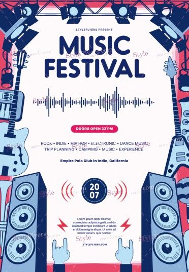 Music Festival PSD Flyer Template