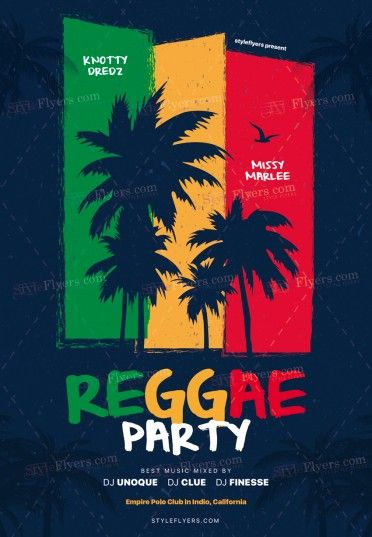 Reggae Party PSD Flyer Template