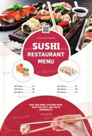 Sushi Restaurant Menu PSD Flyer Template