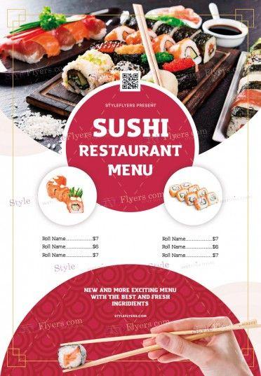 Sushi Restaurant Menu PSD Flyer Template
