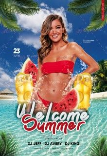 Welcome Summer PSD Flyer Template