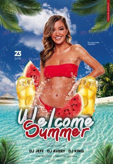 Welcome Summer PSD Flyer Template
