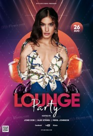 lounge-party_psd_flyer