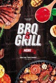 BBQ & Grill Menu PSD Flyer Template