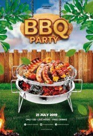BBQ Party PSD Flyer Template