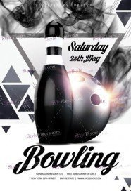 Bowling PSD Flyer Template