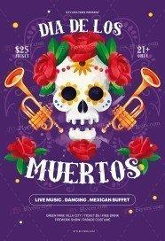 Dia De Los Muertos PSD Flyer Template