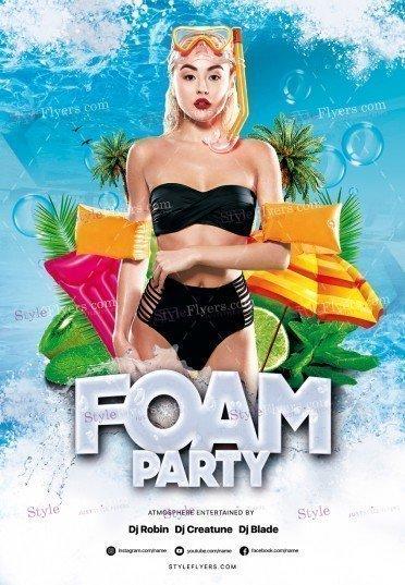 Foam Party PSD Flyer Template