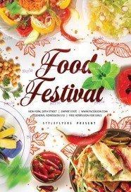 Food Festivale PSD Template Flyer
