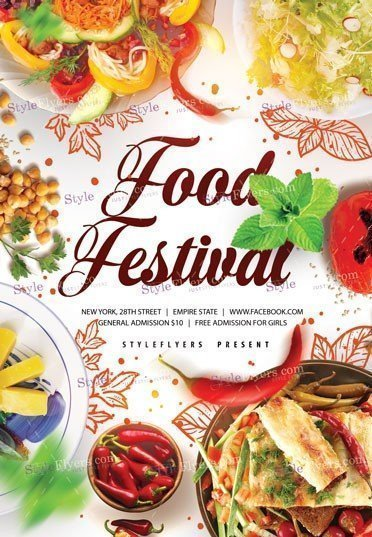 Food Festivale PSD Template Flyer