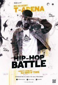 Hip Hop Battle PSD Flyer Template