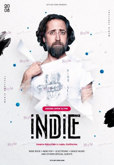 Indie PSD Flyer Template