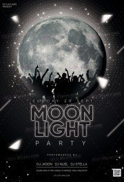 Moonlight Party PSD Flyer Template