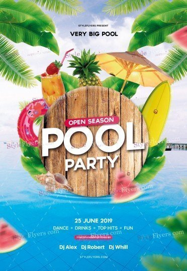 Pool Party Flyer PSD Template