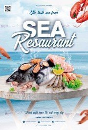 Sea Resaurant PSD Flyer Template