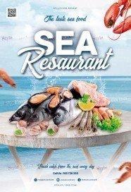Sea Resaurant PSD Flyer Template
