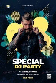 Special DJ Party Flyer Template
