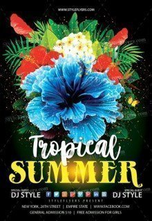 Tropical Summer Flyer PSD Template