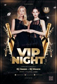 VIP Night PSD Flyer Template