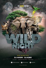 Wild Night PSD Flyer Template