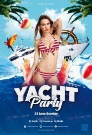 Yacht Party PSD Flyer Template