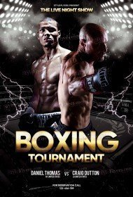 Boxing Tournament PSD Flyer Template