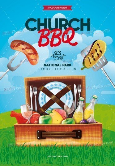 Church BBQ PSD Flyer Template