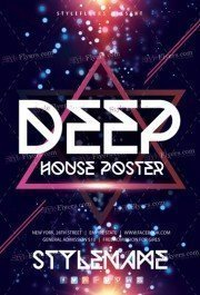Deep House Poster PSD Flyer Template